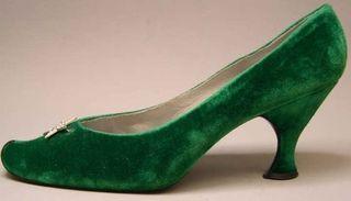 Vivier Green Velvet